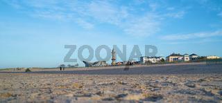 Strand von Warnemünde an der Ostsee