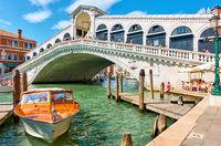 Grand Canal iand Rialto Bridge in Venice