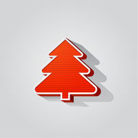 Modern abstract christmas tree background