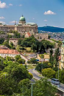 Budapest Royal Palace morning view.