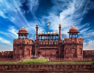 Red Fort Lal Qila. Delhi, India