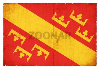 Grunge flag Haut-Rhin (France)