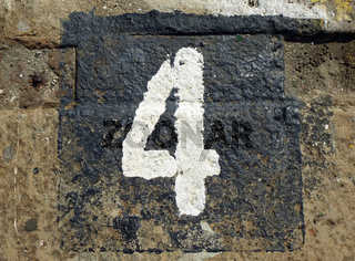 4 - weathered number
