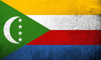 The Union of the Comoros National flag. Grunge background