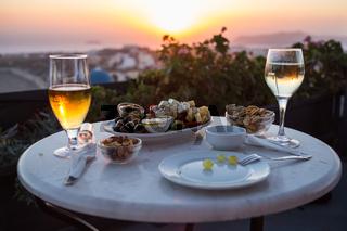 Vorspeise im Abendlicht