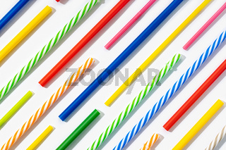 Background of colorful plastic straws