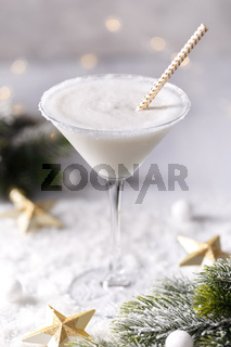 Winter milky cocktail