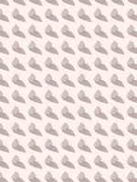 Vertical standing small hearts with hard shadows pattern.