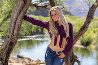Gorgeous Young Coed Model Enjoying The Warm Weather In The Desert