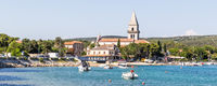 Historic Town of Osor with bridge connecting islands Cres and Losinj, Croatia