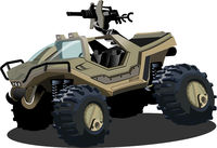 Vector Cartoon sci-fi vehicle