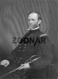 William Tecumseh Sherman, 1820 - 1891, an American General in the Union Army