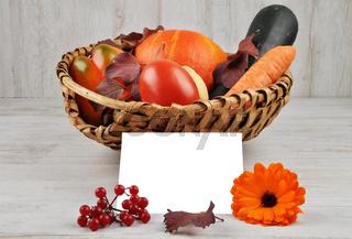Erntekorb - Harvest background