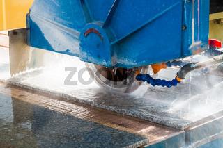 stone processing closeup