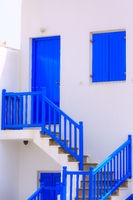 Greek white and blue house, Greece, Cyclades