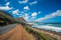The coastline of the Cape Peninsula, South Africa