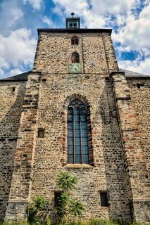 halle saale, deutschland - 21.06.2019 - mittelalterliche moritzkirche