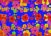 Vibrant Multicolored Flowerscape Seamless Pattern