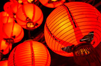 red lantern hanging up
