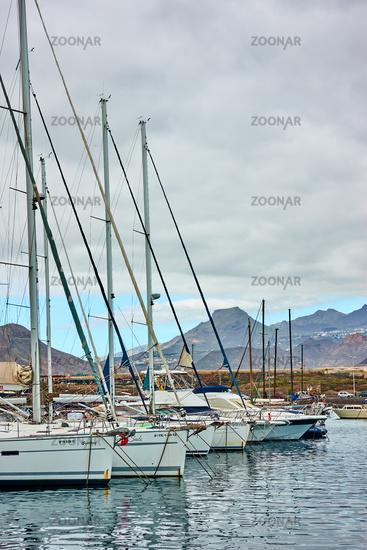 Yachts at Marina del Sur in Tenerife