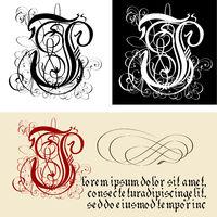 Decorative Gothic Letter J