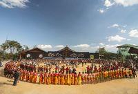 NAGALAND, INDIA, December 2013, Local tribals at Kisama village arena, Nagaland, India