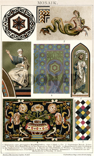 Different ancient mosaics