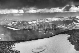 Schneeschauer, Abiskoalpen, Lappland