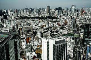 Tokyo skyline seen from the Shibuya Sky
