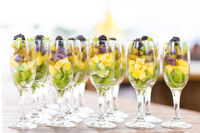 Fruit cuts in a glass
