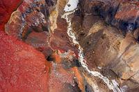 Colorful Dangerous Canyon on Kamchatka