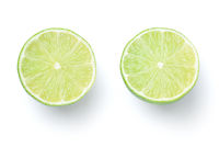 Sliced Limes Isolated On White Background