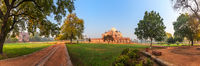 Humayun's Tomb Garden, beautiful panorama, New Delhi, India