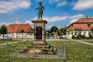 monastery zinna, germany - 07/17/2019 - monument of friedrich the great