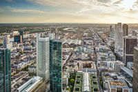 Aerial view over the city of Frankfurt