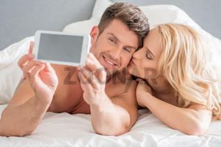 Romantic Couple Capturing Moments