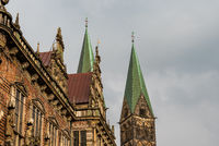 City Hall and Cathedral of Bremen in Germany