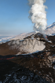 Nature of Kamchatka Peninsula: eruption volcano
