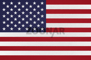 american flag of the united states USA leather texture background