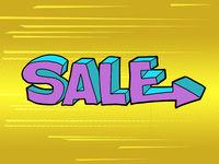 sale word pop art style