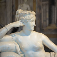 Classical statue of Pauline Bonaparte, made by Antonio Canova