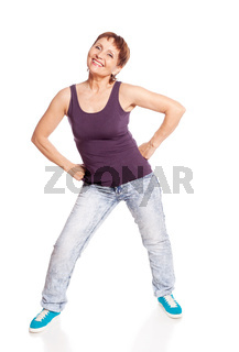 attractive woman 50 years dancing