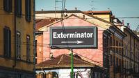 Street Sign to Exterminator