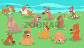 comic dogs cartoon animal characters group