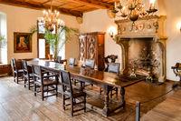 Dining room of Vianden castle