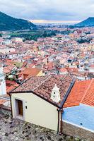 Aerial view Bosa in Sardinia