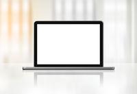 Laptop computer on office desk