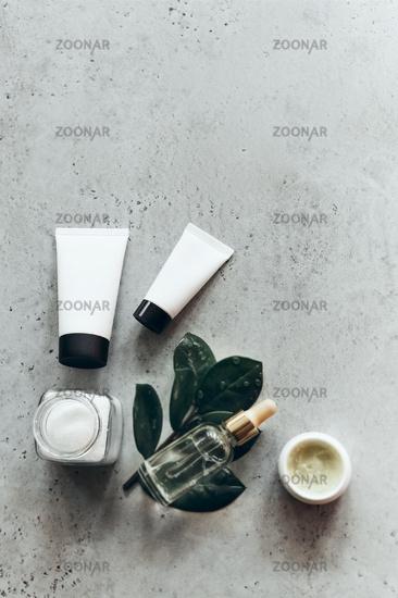 Set of various spa supplies