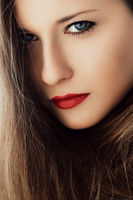 Chic beauty portrait of a woman with classy makeup look and perfect skin, brunette girl with long healthy brown hair, female model posing for luxury cosmetics or luxe skincare brand