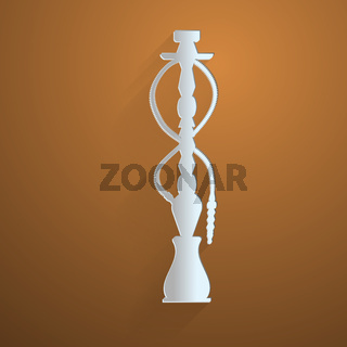 Flat icon for hookah
